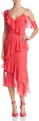 Alice + Olivia Olympia Asymmetric Ruffled Silk Dress - 100% Exclusive