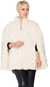 Dennis Basso Platinum Collection Grooved FauxFur Cape