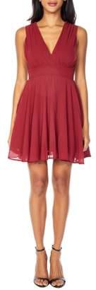 TFNC V-Neck Fit & Flare Dress