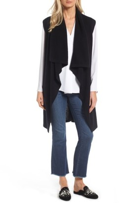 Women's Halogen Waterfall Drape Front Cashmere Vest $149 thestylecure.com