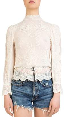 The Kooples Bolo-Detail Lace Top