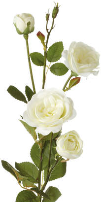 OKA Artificial English Garden Rose Stem - White
