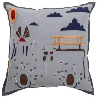 """Rizzy Home Kid's Pillow Pillow 18"""" x 18"""" in Grey Color"""