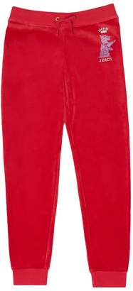 Juicy Couture Velour Royal Scottie Zuma Pant for Girls