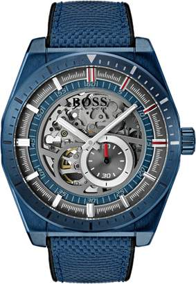 BOSS Signature Timepiece Collection Automatic Strap Watch, 44mm