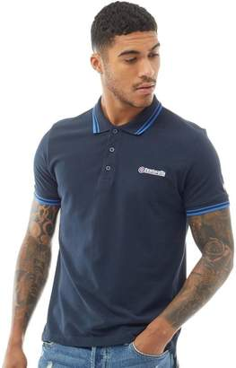 Lambretta Mens Twin Tipped Polo Navy
