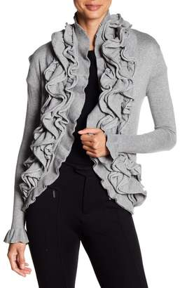 Romeo & Juliet Couture Ruffle Front Cardigan