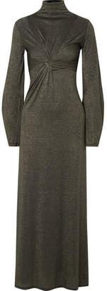 Sid Neigum - Twist-front Metallic Stretch-jersey Maxi Dress - US8