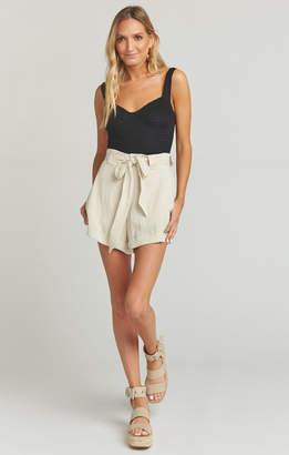 Show Me Your Mumu Hadley Shorts ~ Cream Linen