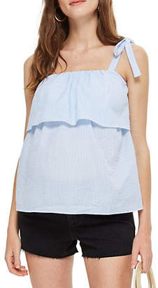 Topshop MATERNITY Stripe Tier Top