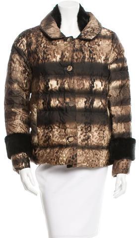 pradaPrada Mink-Trimmed Down Coat