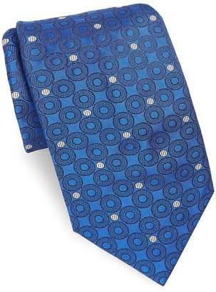 Brioni Men's Azure Dots Silk Tie