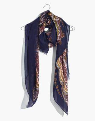 Madewell Oversized Paisley Square Scarf