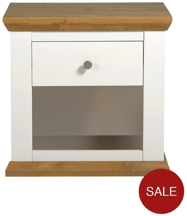Alston Lamp Table - Cream/Oak-Effect