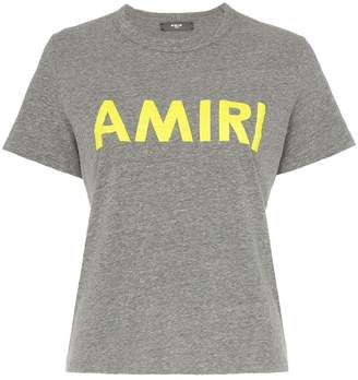 Amiri neon logo print short sleeved T-shirt