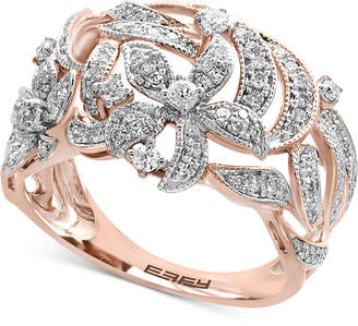 Effy Diamond Pavé Floral-Inspired Statement Ring (5/8 ct. t.w.) in 14k Rose Gold