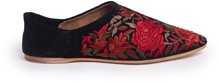 Jeffrey Campbell Jeffrey Campbell Embroidered Floral Slippers