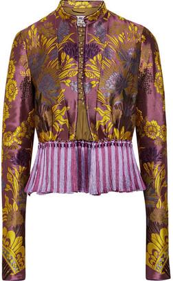 Etro - Tassel-trimmed Floral-jacquard Jacket - Violet $3,470 thestylecure.com