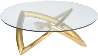 One Kings Lane Martina Coffee Table - Clear/Gold