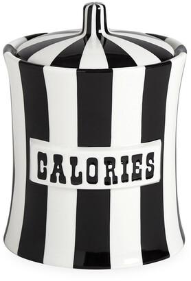 Jonathan Adler Vice Canister - Calories - Black/White