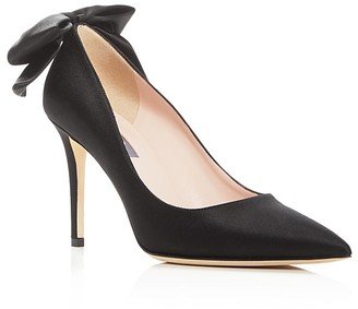 SJP by Sarah Jessica Parker Lucille Bow Pointed Toe Pumps $395 thestylecure.com
