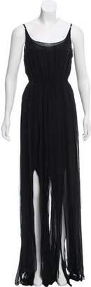 Rachel Zoe Silk Fringe-Trimmed Dress