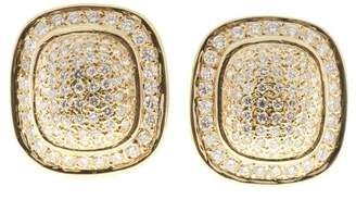 14K Yellow Gold with 2.50ct Diamond Clip Post Domed Earrings