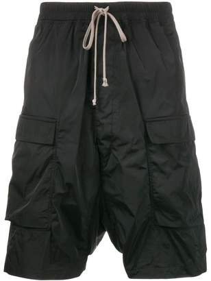 Rick Owens Drop-crotch Cargo Shorts with Front Pockets