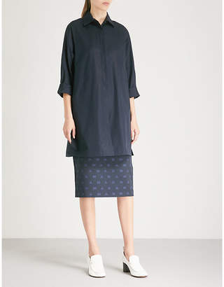 Max Mara Aditoa cotton-poplin shirt dress