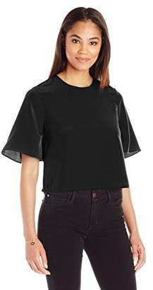Paris Sunday Women's Bell Sleeve Crop Top