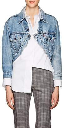 R 13 Women's Repurposed Levi's® Crop Trucker Jacket