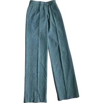 Loro Piana Green Wool Trousers for Women