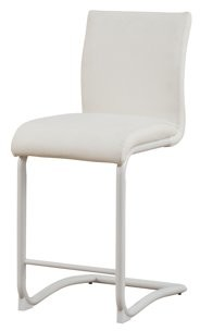 "ACME Furniture ACME Gracie 24"" White Faux Leather Counter Height Chair, Set of 2"