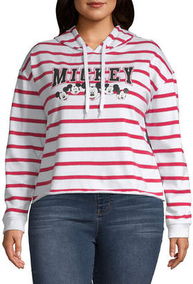 Freeze Mickey Mouse Cropped Sweatshirt - Juniors Plus