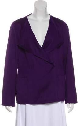 Akris Punto Wool-Blend Long Sleeve Jacket