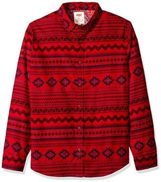 Levi's Men's Oswald Long Sleeve Printed Poplin Shirt