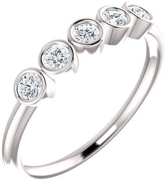South Beach Diamonds 1.00 ct Ladies Round Cut Diamond Bazel Set Rin in 14 kt White old In Size 8