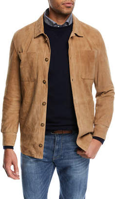 Peter Millar Suede Shirt Jacket