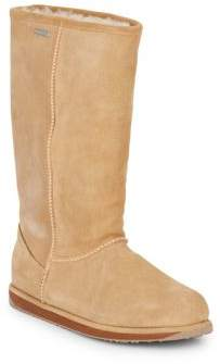 Paterson Shearling-Lined Suede Tall Boots $199 thestylecure.com