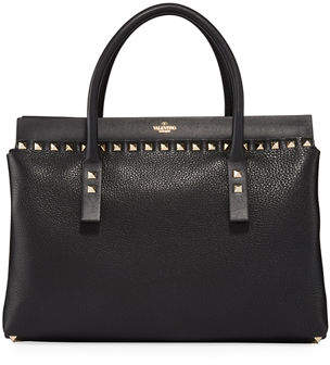 Valentino Rockstud Small Double Handle Tote Bag
