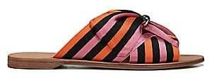 Diane von Furstenberg Women's Bella Rose Ribbon Sandals