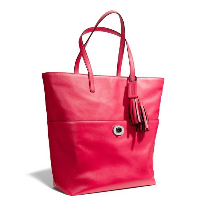 Coach Legacy Turnlock Tote In Leather