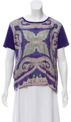 Etro Silk-blend Short Sleeve Top