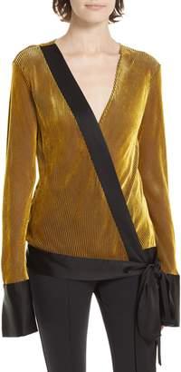 Diane von Furstenberg Crossover Long Sleeve Blouse