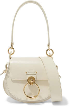 Chloé Tess Small Leather And Suede Shoulder Bag - Cream