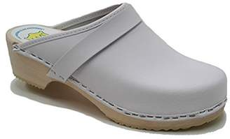 World of Clogs.com AM-Toffeln 100 Wooden Clog in leather - Size 42