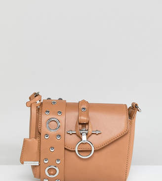 Glamorous Tan Cross Body Bag With Hardware & Eyelet Detail