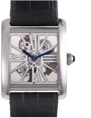 Cartier Heritage  Men's Tank Mc Skeleton Watch
