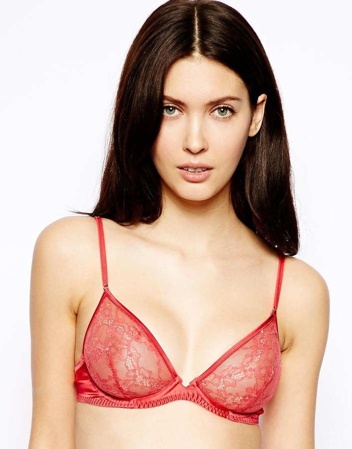 Marios Schwab Kallisti by for ASOS Inc Lace and Satin Underwired Bra