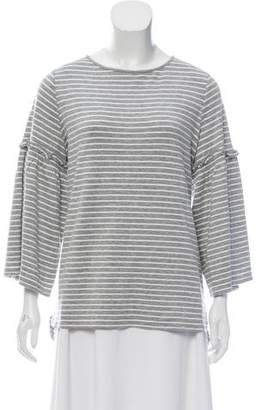 Max Studio Stripe Long Sleeve T Shirt